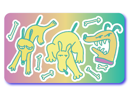 Puppy Dog Tails Sticker Sheet