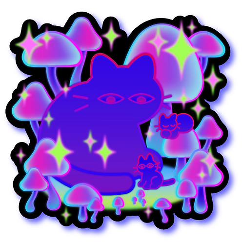Mushroom Cat Magnet