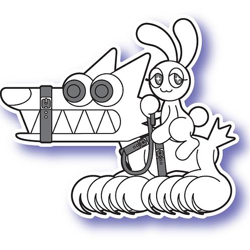 He Bites Sticker