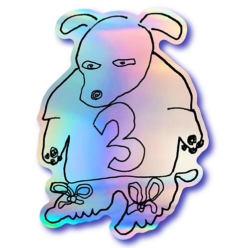 Holo Dog Sticker