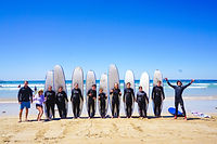 Group Photo - Surfing Activity YCW Beach