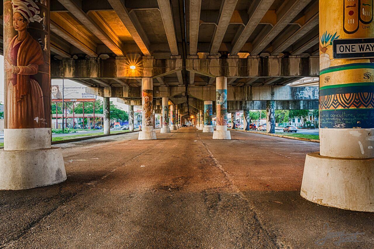Under the Claiborne Bridge