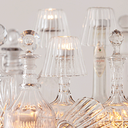 Abatjour de vidro para velas