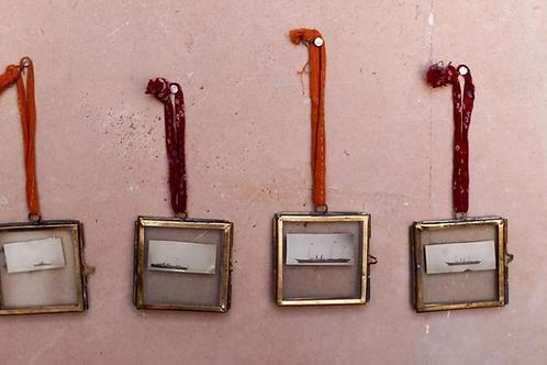 Tiny Frame Antique Brass (Set Of 2)