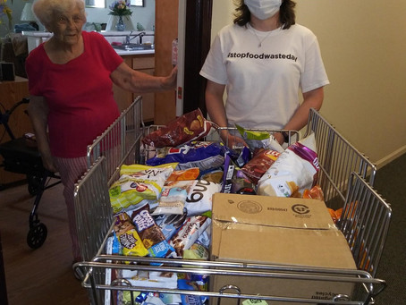 Ridgewood Place helps stock resident pantries!