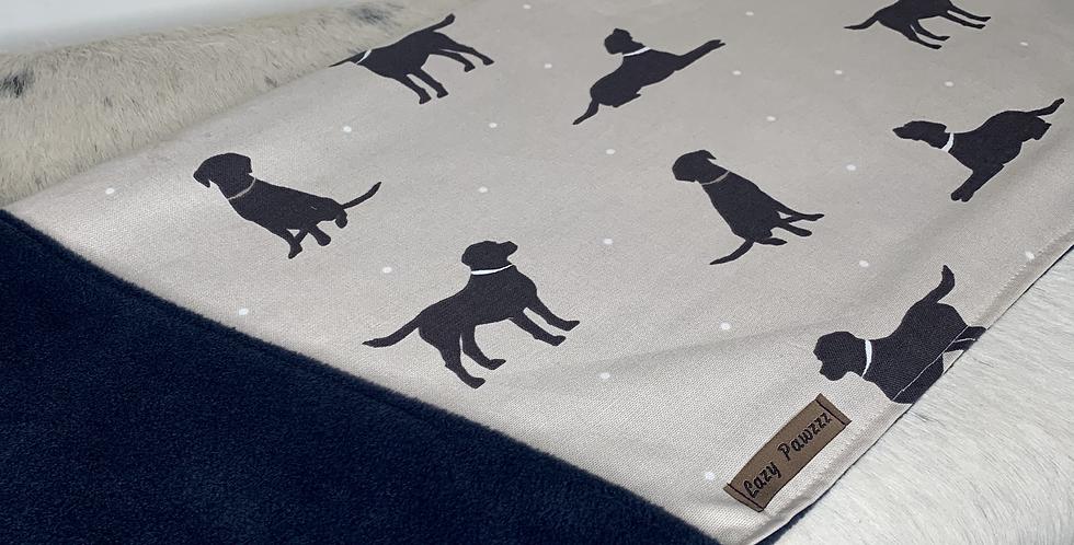 Labrador Love fleece blanket