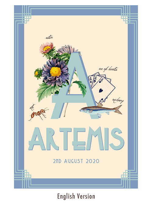 A - Children's personalised print