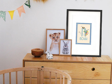 Nettle and Ivy Personalised Baby Prints
