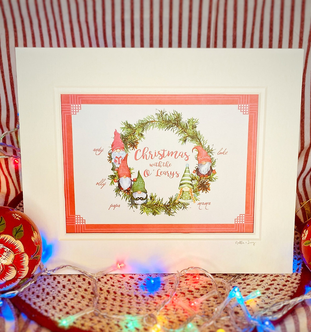 Personalised Christmas Gift Gonk wreath