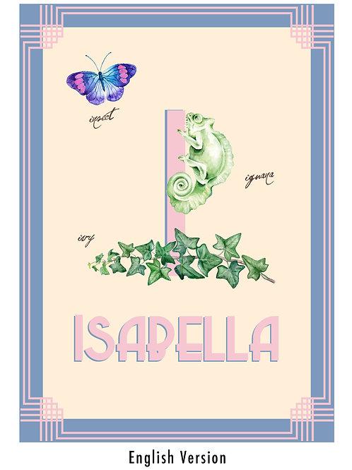I - Children's personalised print