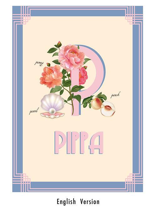 Baby girl personalised print design