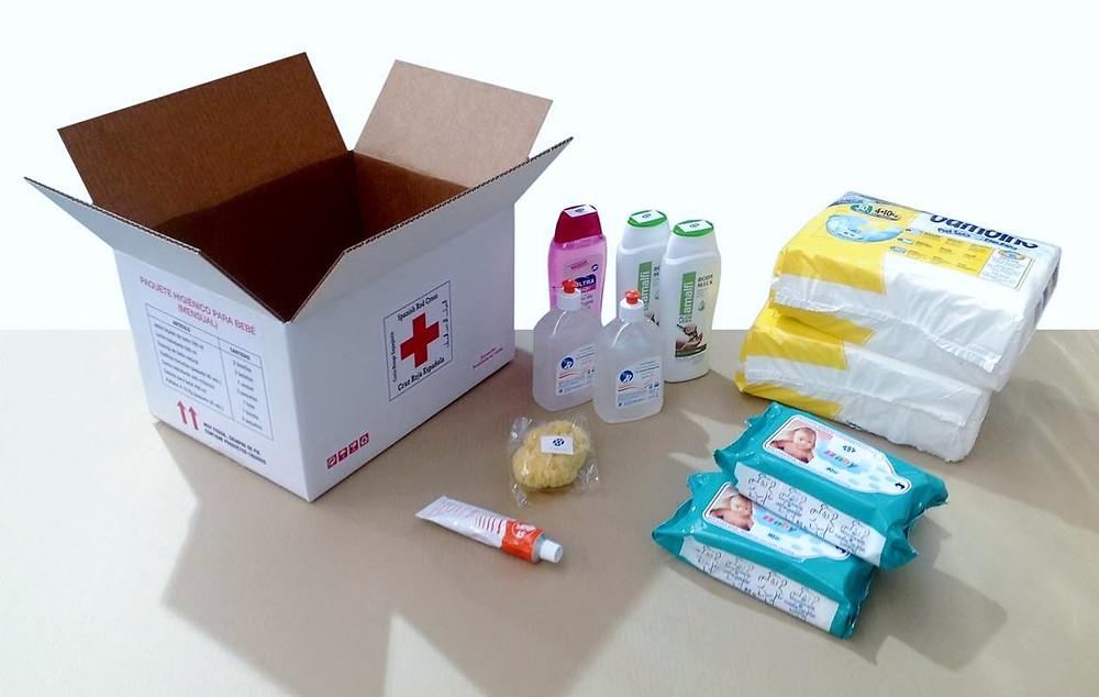 kit de higiene para bebés