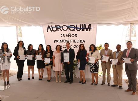 Auroquim obtiene certificación ISO 22000:2005