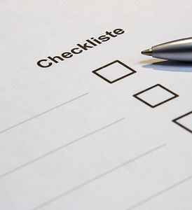 View of a checklist with word checklist