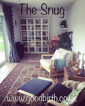 'The Snug' at GOODBIRTH is open!!! I am