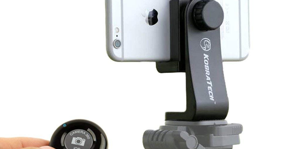 Combo Package 3 - Cell Phone Tripod Mount, iPod/Tablet Tripod Mount & Tripod