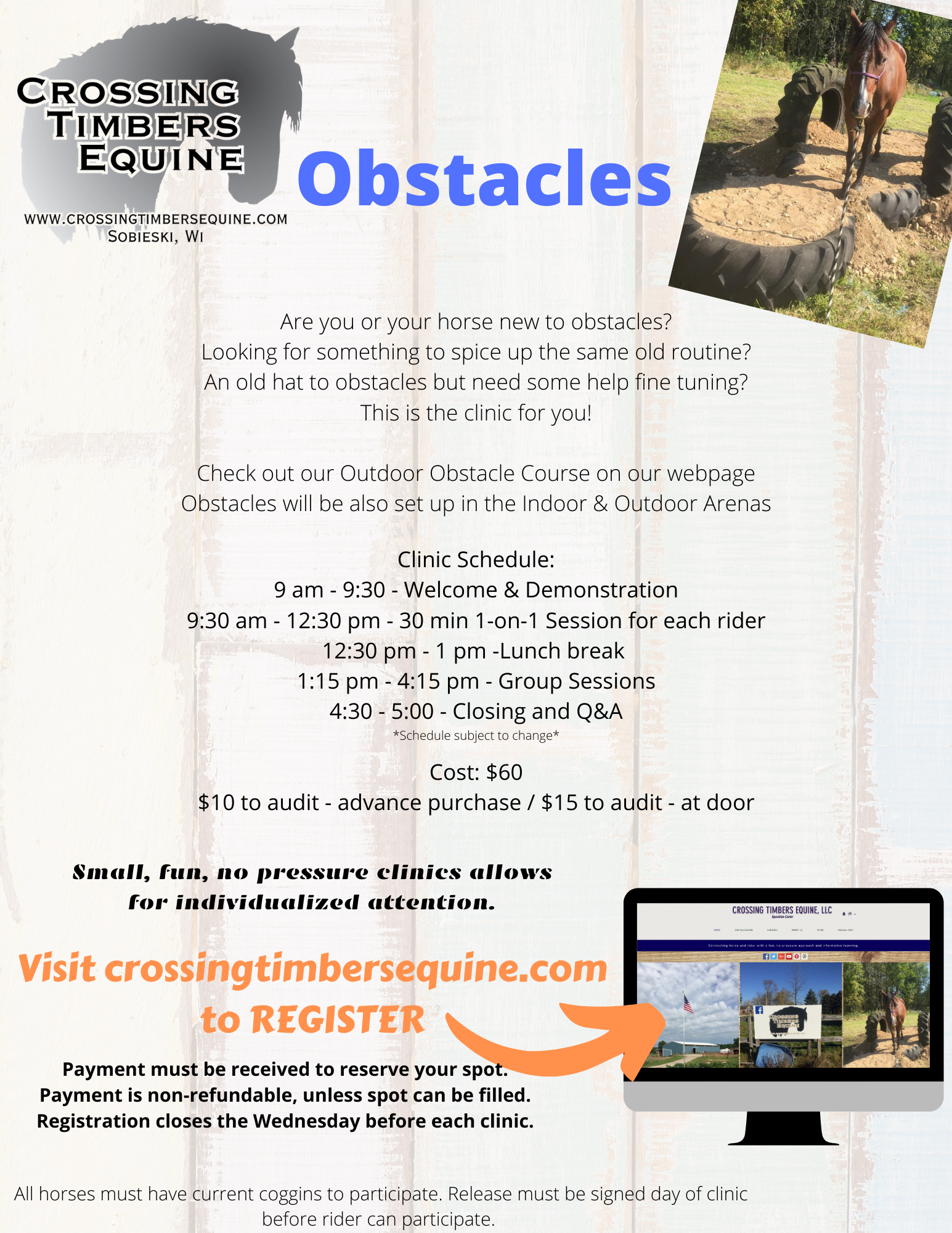 Obstacles Printable Flyer
