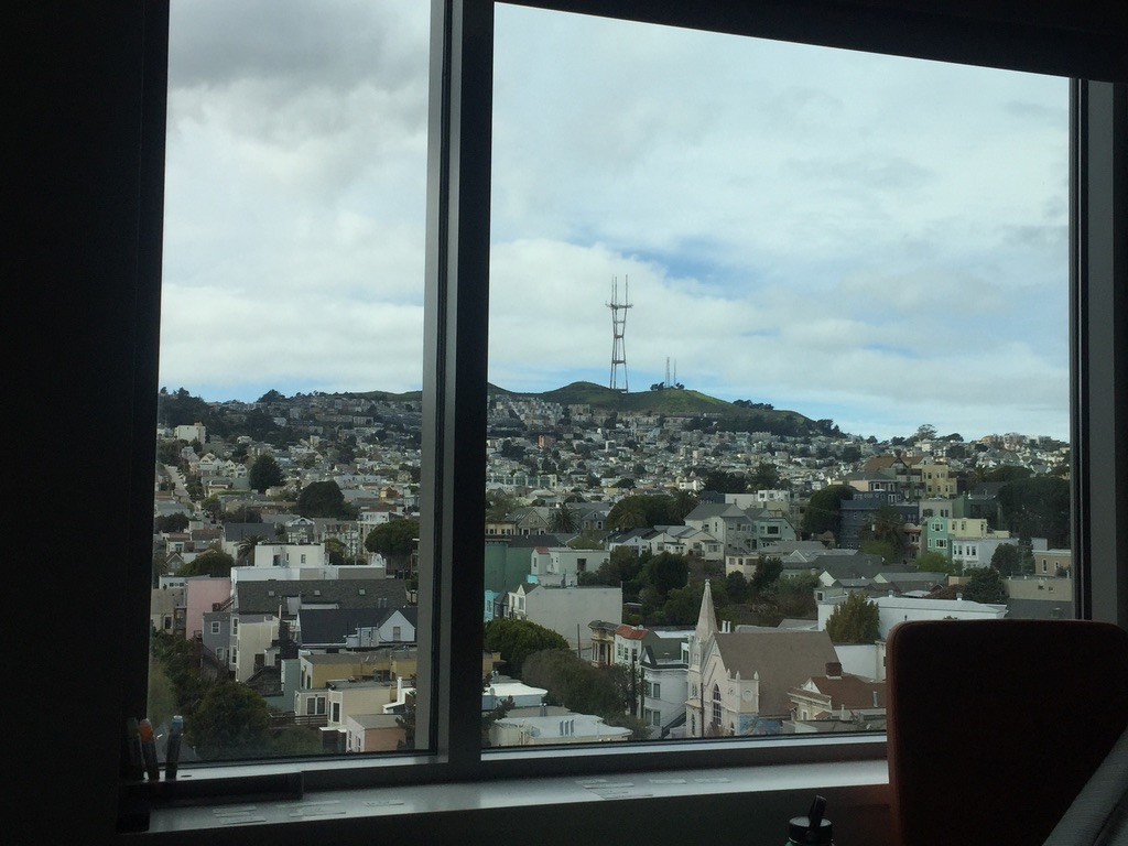 Sutro Tower from Birthing Suite on Ceasar Chavez & Valencia