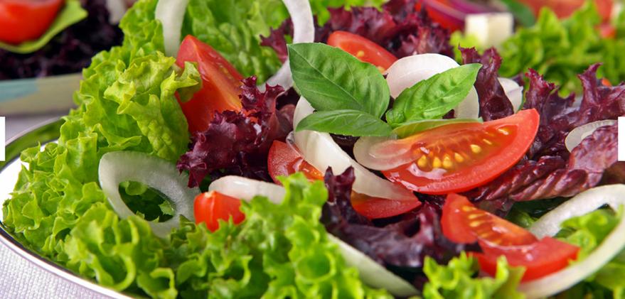 Salad with Chimichurri and mint