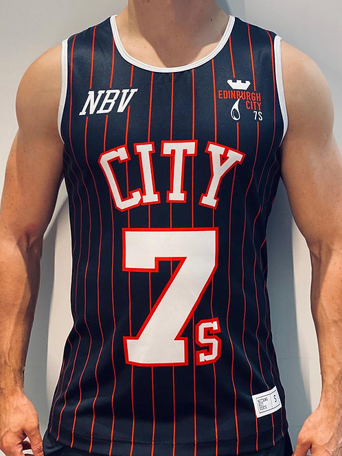 Edinburgh City 7s Basketball Jersey Black