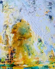 Sal Massimini Yellow Abstract