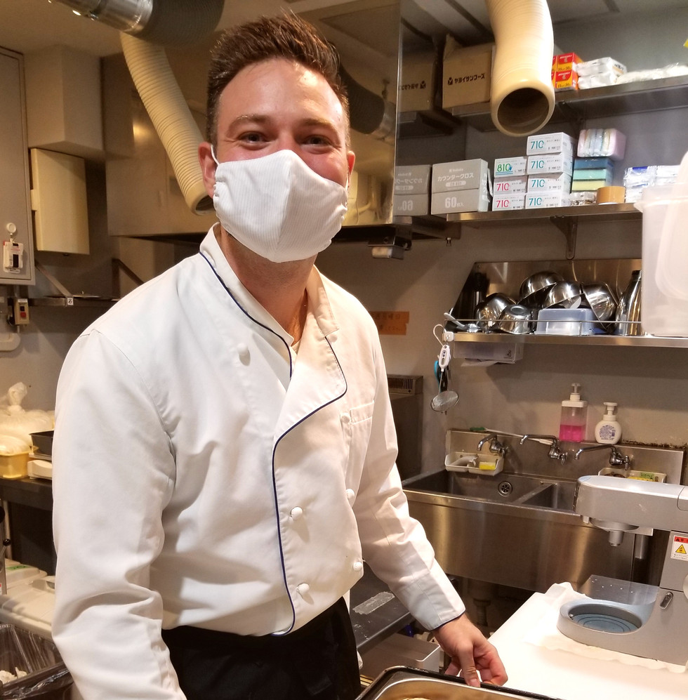Happy chef smile (behind the mask)