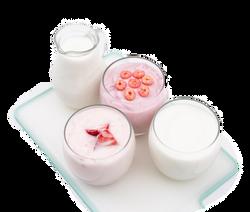 Low fat fruit yogurt