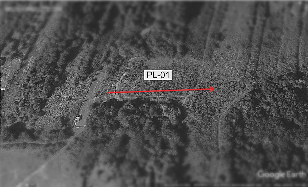 GPR survey path PL - 01
