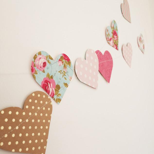Guirnalda corazones Simple