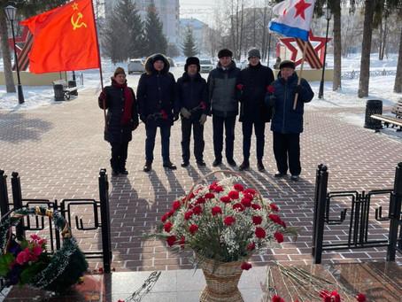 Салаватские коммунисты отметили 103-годовщину создания Советской Армии и Военно-Морского флота
