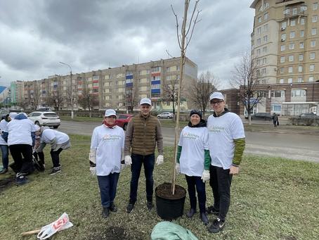 Салаватские коммунисты приняли участие в акции по высадке деревьев «Зеленая Башкирия».