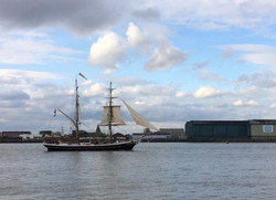 Tall ship on the river Thames