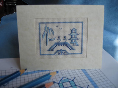 Blue Willow Cross-stitch kit