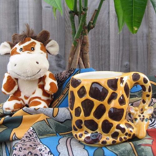 Hand-painted Giraffe Children's Mug
