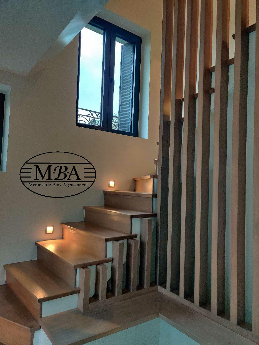Habillage bois escalier