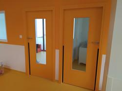 Porte anti pincement de doigt - Ecole maternelle