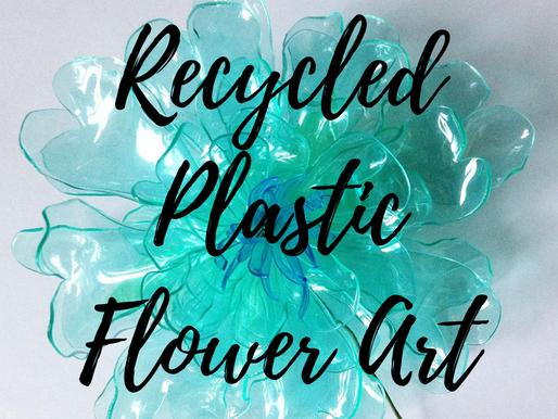 Recycled Plastic Flower Art