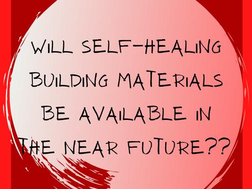 Self-healing building materials