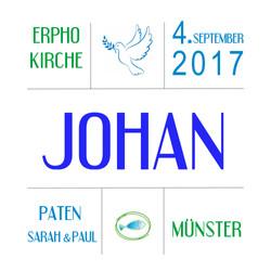 Muster Taufe Johan