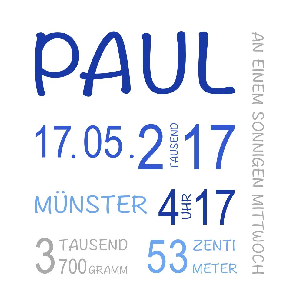 Muster Geburt Paul