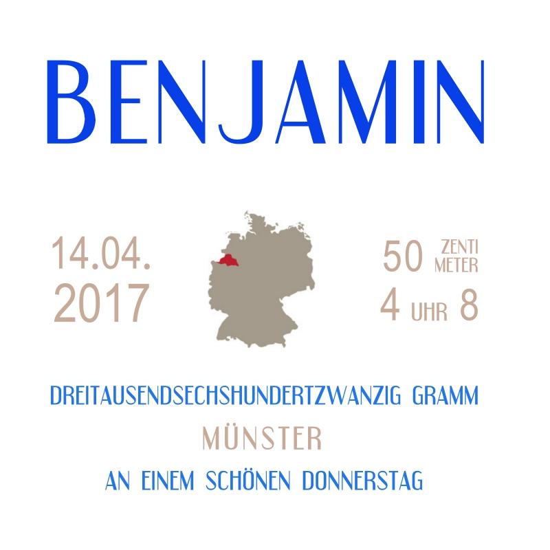 Muster Geburt Benjamin