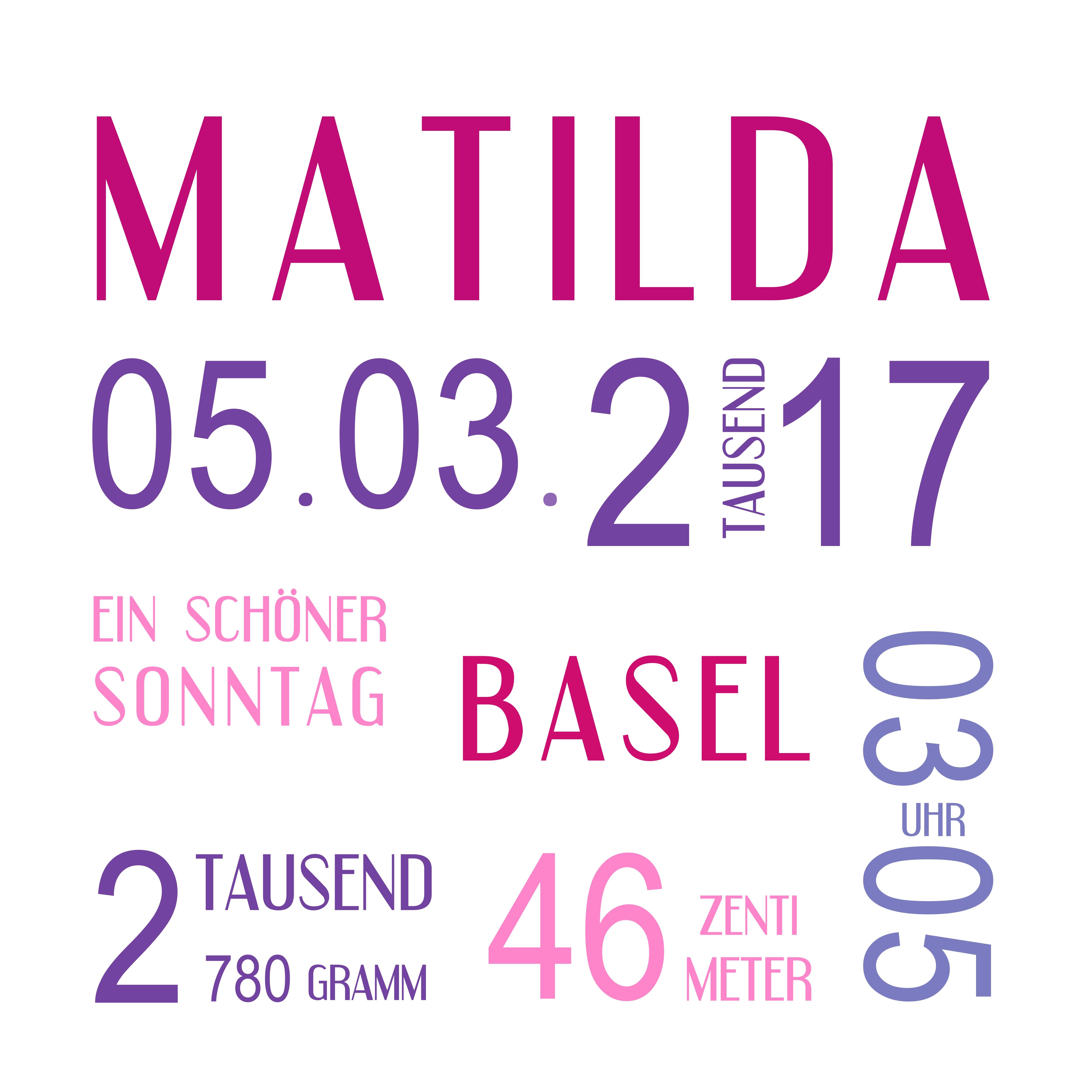 Muster Geburt Matilda