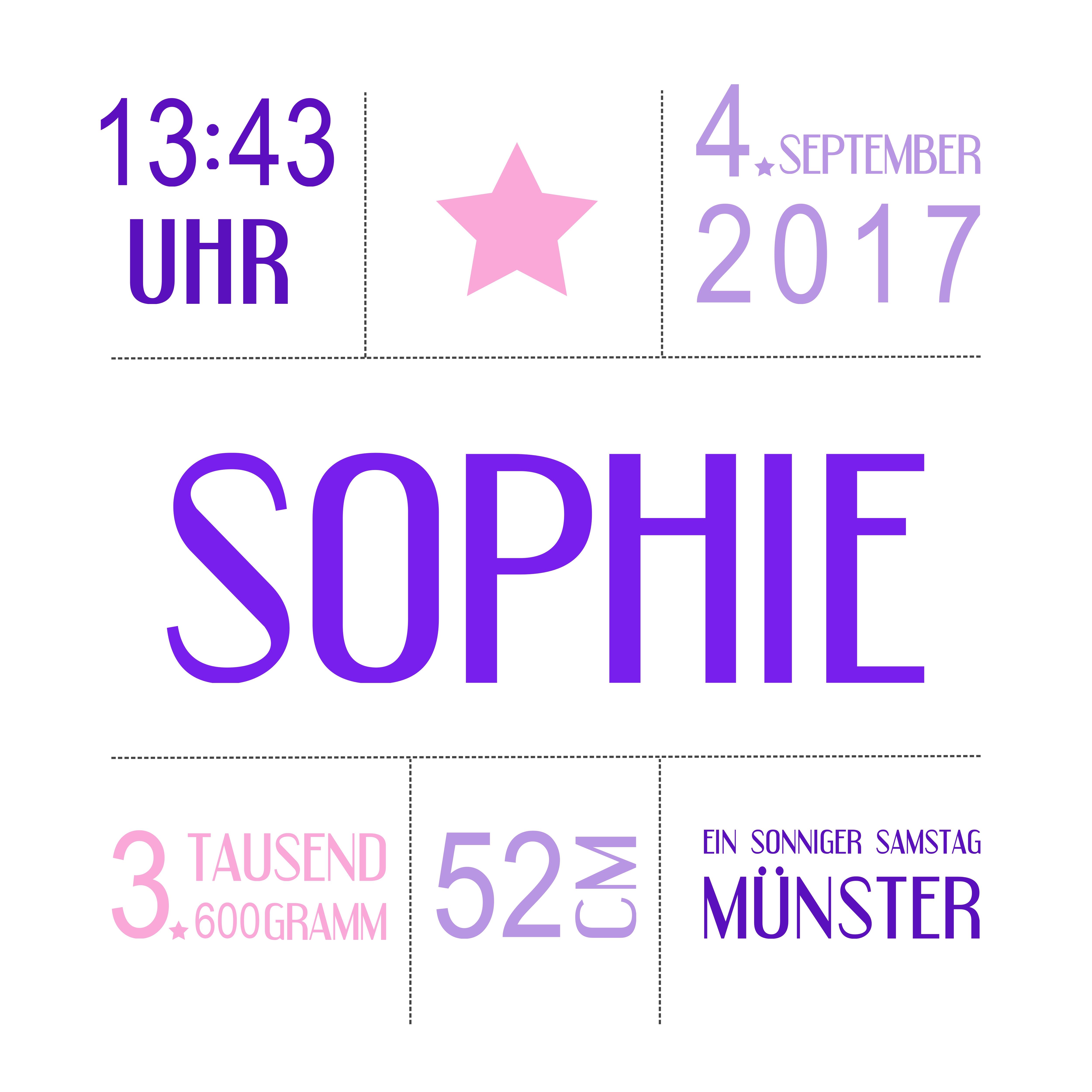 Muster Geburt Sophie