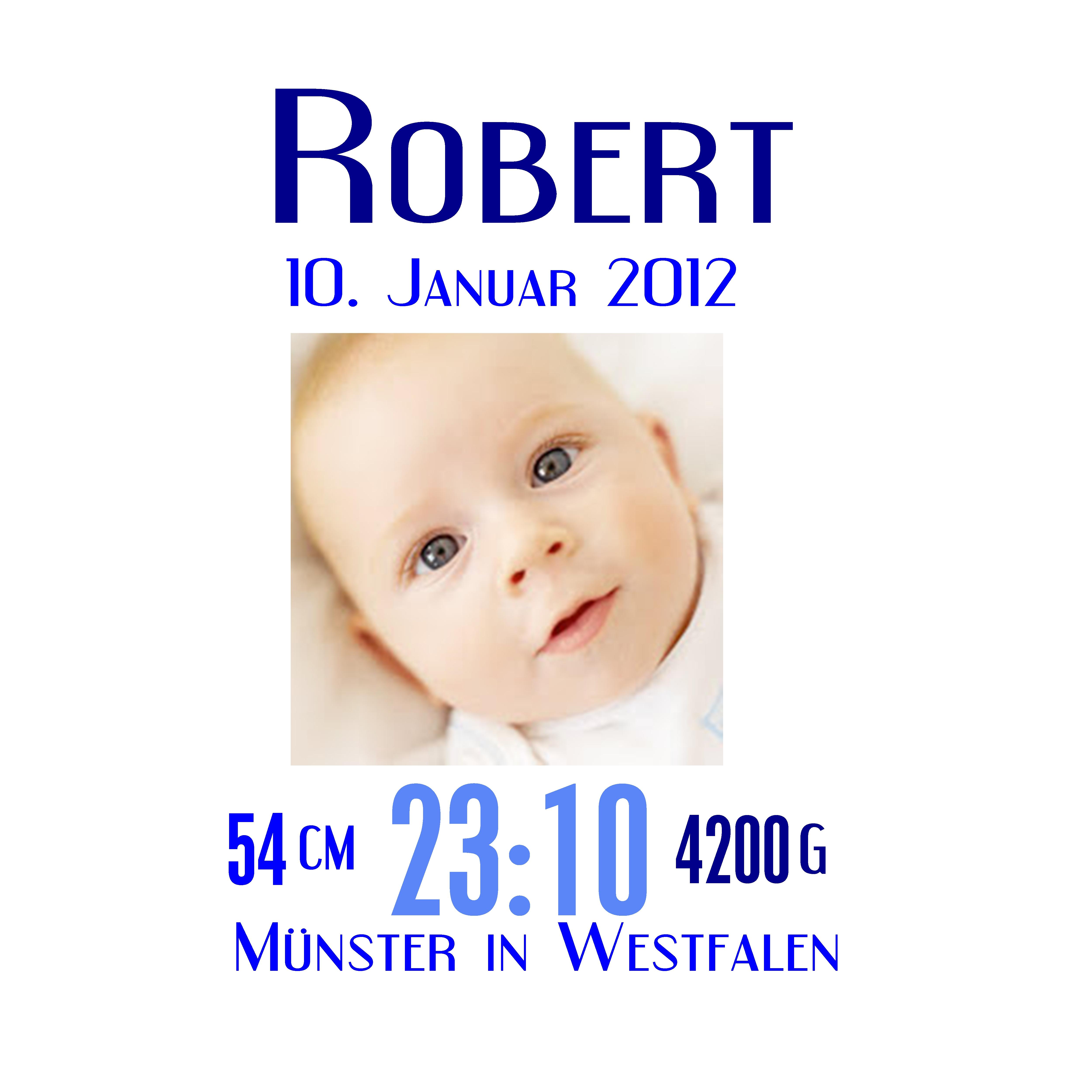 Muster Geburt Robert