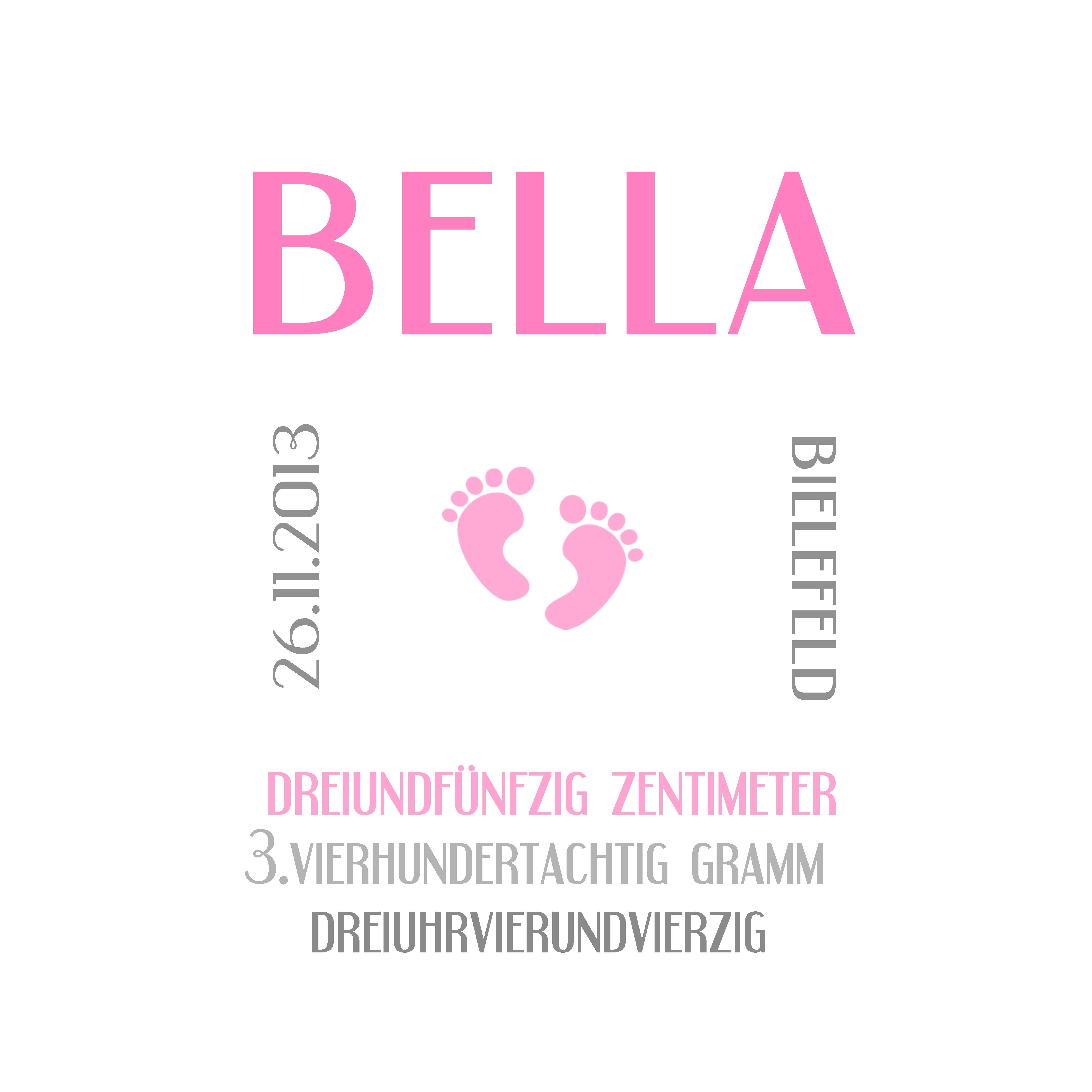 Muster Geburt Bella