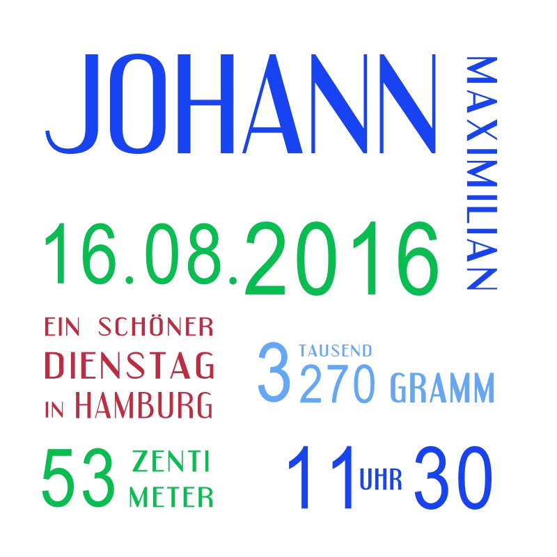 Muster Geburt Johann