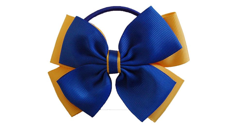 hair bobble royal blue yellow