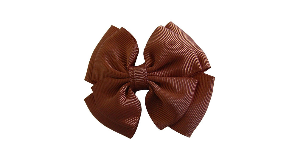 School hair clip brown