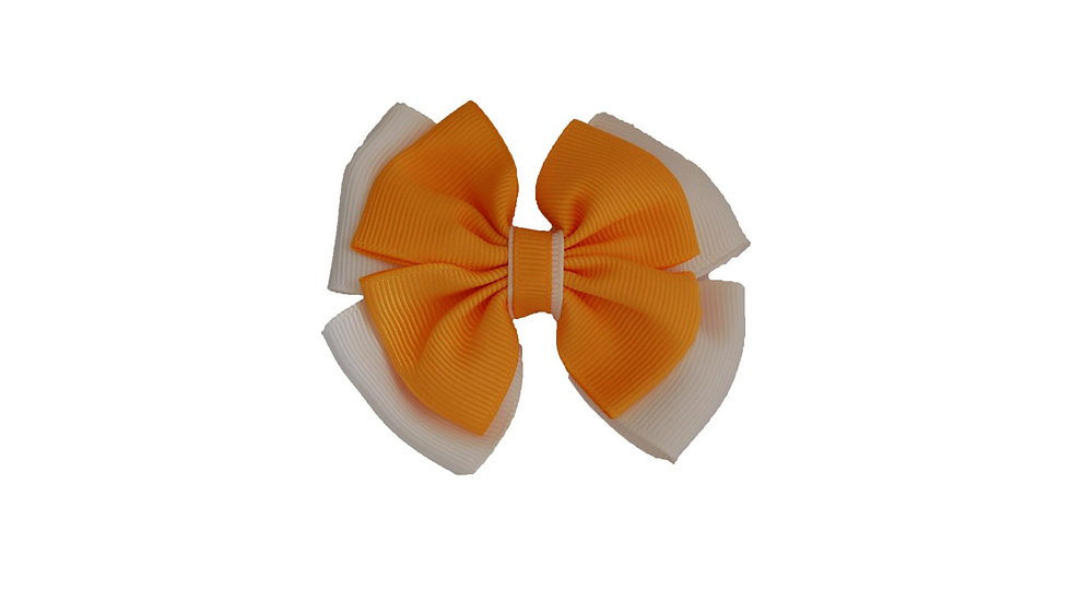 School hair clip yellow white