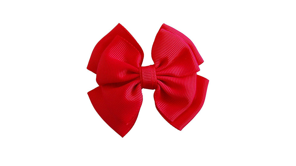 School hair clip red